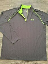 Under Armour Heat Gear 1/4 zip Loose Fit Pullover Top Shirt Size Xl Gray Euc