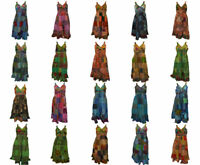 100% COTTON BOHO HIPPIE VINTAGE STYLE V-NECK LAGENLOOK FLORAL SHORT DRESS 61-80