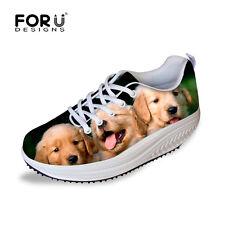 Cute Animal Dog Shoes Women Shape Up Toning Shoes Platform Sneakers Swing Shoes