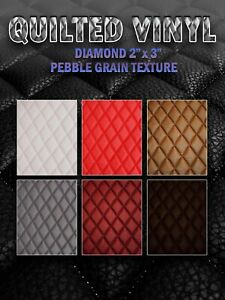 "Quilted Vinyl Pebble Grain Texture Diamond 2"" x 3"" With 3/8"" Foam Backing"