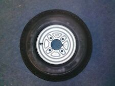 "Spare Wheel and Tyre 480 / 400 x 8""  4"" pcd 4 Ply with grease nipple cut out"