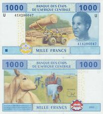 Central Africa (Cameroon) 1000 Francs - Industry/Cattle/p207Ud Sig. 24 UNC