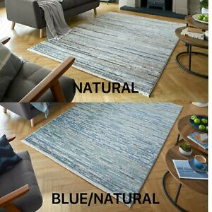 SANTIAGO LAGOS ABSTRACT FASHION HAND KNOTTED STYLE SOFT NATURAL BLUE RUG
