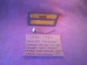 1980-1984 PONTIAC PHOENIX GM DRIVER FRONT SIDE AMBER MARKER LIGHT FREE SHIPPING