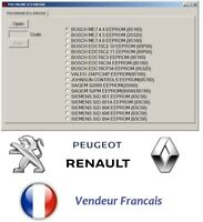 Renault pin extracteur et Peugeot Pin ECU EXTRACTOR PSA PINCODE pin ECU 2en1