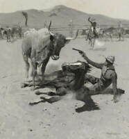 Frederic Remington A Critical Moment Poster Reproduction Giclee Canvas Print