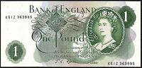 B303 FFORDE 1967 £1 BANKNOTE * K51Z 363985 * gVF *