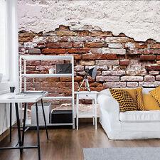 VLIES Tapete Fototapete Tapeten WANDBILD Braun Ziegel Wand Textur 13N10182VEXXXL