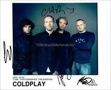 Coldplay Autographs *A Rush of Blood to the Head* Hand Signed 10x8 Photo