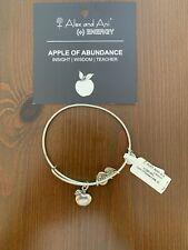 Alex and Ani Apple Of Abundance Bangle Bracelet Silver NWT And Card
