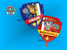 "Paw Patrol 27"" shield Chase Marshall helium Foil balloon birthday party Anagram"