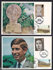 1969 investiture-Cameo stamp cards doubled with the 1994 Set-Unusual!