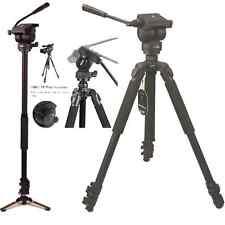 Professional Video Camera tripod & Monopod with Fluid Drag Head,tripod, 60 inch