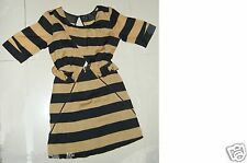 Toi et Moi Dress Size 8 Aus NWT Striped Cut Out 3/4 Sleeve Peplum