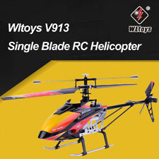 Wltoys V913 2.4G 4CH Brushed Single Blade RC Helicopter RTF Aircraft RC Plane