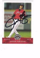 2014 Erie SeaWolves Jason Krizan Detroit Tigers Authentic Autograph COA