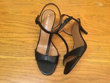 COACH MELODIE T-STRAP OPEN TOE HEEL SANDALS SHOES NEW SIZE 9
