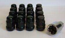 12 x M12 1.5 nero dadi delle ruote & CHIUSURA MITSUBISHI IN FORMA COLT GALANT I