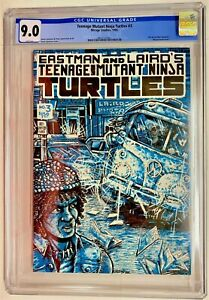 TMNT Teenage Mutant Ninja Turtles #3 First Printing CGC 9.0 VF/NM WHITE pgs 1985