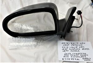 2010-2017 OEM Jeep Patriot and 2012-2015 Jeep Compass Heated Left Driver Mirror
