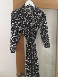 BNWOT Zara Animal Print Midi Shirt Dress XXL
