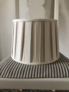 Laura Ashley cream pleated  Lamp shade Price Each 2 Available