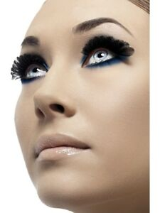 Fever Black Feather Eyelashes Party Fancy Dress Accessories New