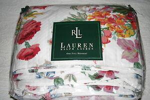 Ralph Lauren BEACH HOUSE Southampton QUILTED Ruffled FULL / Double BEDSKIRT New