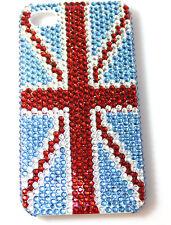 Iphone 4 4s Funda Rígida De Union Jack Completo Cristal