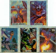 Marvel Masterpieces 1994 Silver Holofoils Chase Card Set from Fleer