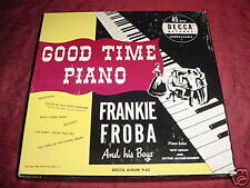 NM JAZZ 45 BOX SET - FRANKIE FROBA 45 GOOD TIME PIANO SOLOS WITH ORGAN  DECCA