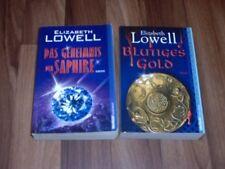 2x  Elizabeth Lowell -- BLUTIGES GOLD/GEHEIMNIS SAPHIRE