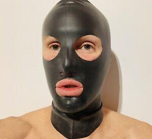 Hood Mask Cosplay 0.4 mil 100% Latex Rubber Black
