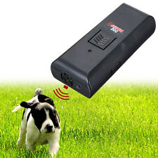 Ultrasonic Dog Pet Repeller Trainer Barking Stop Training Obedience Device NEW