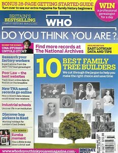 BBC Genealogy Magazine Who Do You Think You Are 10 Best Family Builders 2013