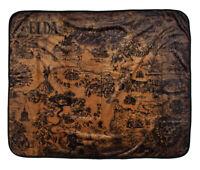 """Legend Of Zelda Hyrule Map Plush Throw Blanket 48"""" x 60"""" (122cm x 152cm)"""