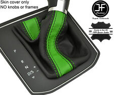 BLACK & GREEN STRIPE LEATHER DSG AUTOMATIC GEAR GAITER FOR VW TOURAN 5T 15-17