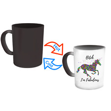 Unicorn Mug - Heat Sensitive Color Changing Magic Coffee Cup Funny Novelty Gift