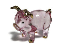 Miniature Pig Glass Blown animals figurine Art glass Pig figurine dollhouse