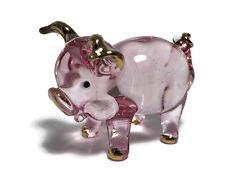 Miniature Pig Glass Blown animals figurine Art glass Pig figurine dollhouse
