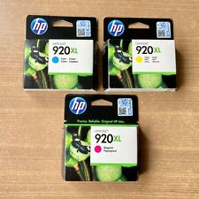 Lot de 3 cartouches HP 920 XL Couleurs Cyan Yellow Magenta 700 pages !