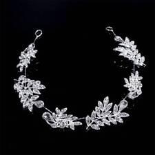 Women Crystal Bridal Hair Vine Leaf Wedding Hair Jewelry Accessories Headpiece
