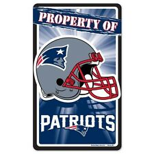 "New England Patriots Property Of Sign 7.25""x12"""