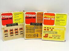 Preiser Kit da montare 1/87 HO Set di 3 Scatoloni Accessori Vigili del fuoco