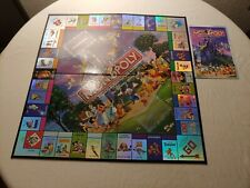 Monopoly The Disney Edition 2001 Replacement Board**Great Shape**w/ instructions