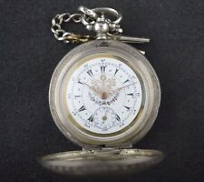Rare Antique Ottoman Turkish Military Silver Pocket Watch Dent London