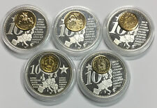 P10-4) Versilberte Inlay Medaille The Fortcoming new Euro Countries, freie Wahl