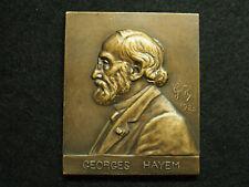 PLAQUE BRONZE 1925 MEDECINE HEMATOLOGIE PARIS à GEORGES HAYEM ISAAC 1841 - 1933