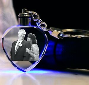EASTER gift Birthday Picture Key chain 2D   Engraved Keyring Gift  laser etched