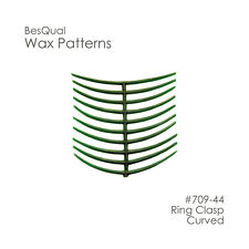 Dental Lab Wax Patterns Ring Claps Curved 10 patterns ( 200pcs )